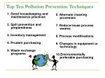 top ten pollution prevention techniques