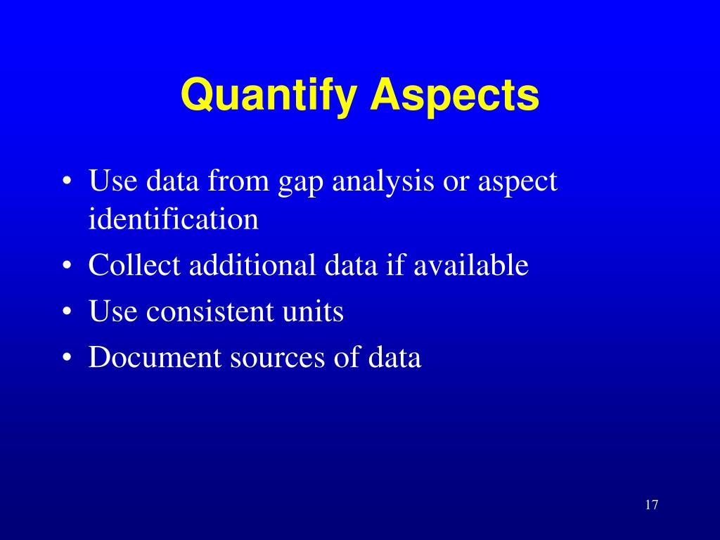 Quantify Aspects