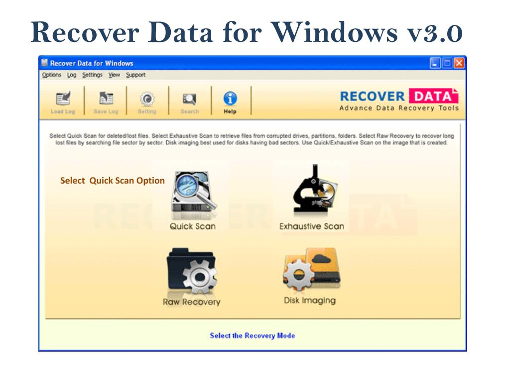 recover data for windows v3 0 l.