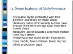 1c some features of babyboomers
