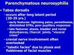 parenchymatous neurosyphilis1