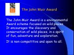 the john muir award