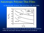 anisotropic polymer thin films