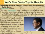 yen s rise dents toyota results