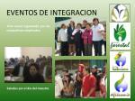 eventos de integracion