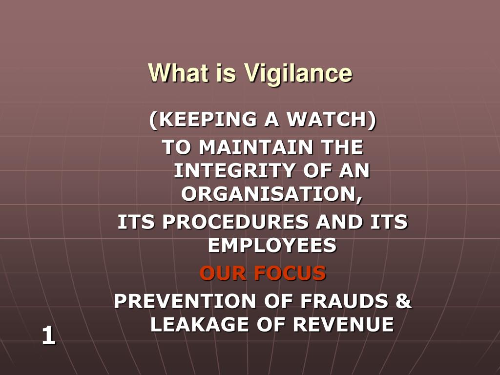 what is vigilance l.