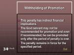 withholding of promotion