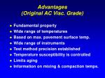 advantages original ac visc grade