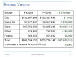 revenue variance