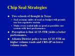 chip seal strategies