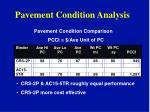 pavement condition analysis