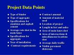 project data points