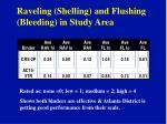 raveling shelling and flushing bleeding in study area