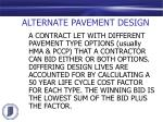 alternate pavement design