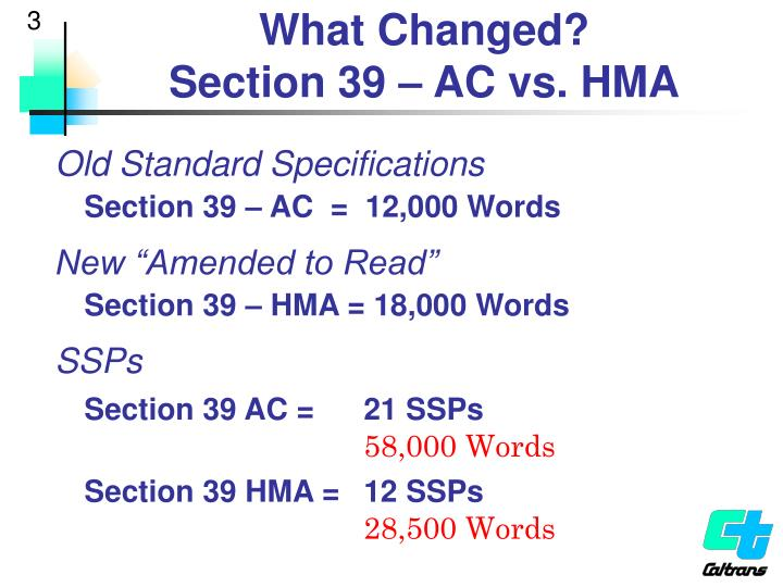 What changed section 39 ac vs hma