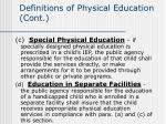 definitions of physical education cont32