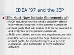 idea 97 and the iep
