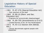 legislative history of special education11