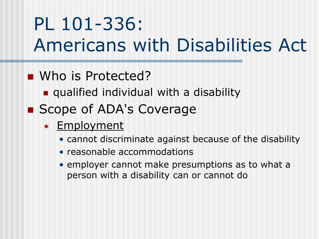 an essay on the americans with disabilities act Need essay sample on americans with disabilities act of 1990 we will write a cheap essay sample on americans with disabilities act of 1990 specifically for you for only $1290/page.