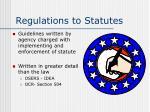 regulations to statutes