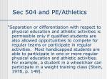 sec 504 and pe athletics