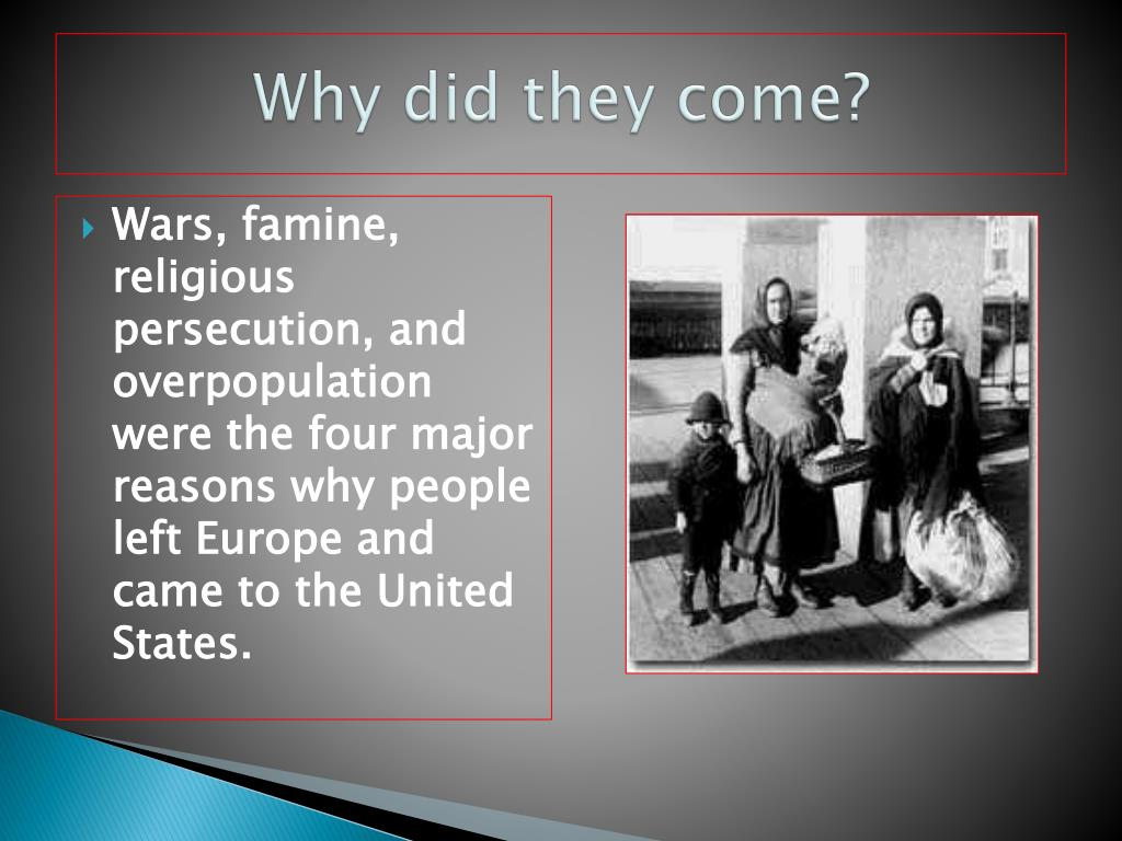 why do immigrants come to the united states essay