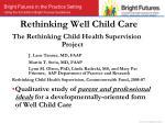 rethinking well child care