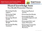 shared knowledge base ten health promotion themes