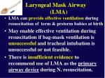 laryngeal mask airway lma