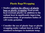 plastic bags wrapping
