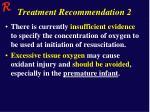 treatment recommendation 2