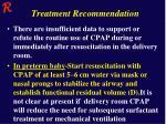 treatment recommendation