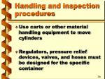 handling and inspection procedures6