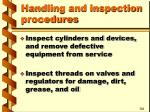 handling and inspection procedures8
