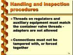 handling and inspection procedures9