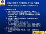 liquified petroleum gas properties characteristics7