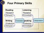 four primary skills