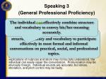 speaking 3 general professional proficiency