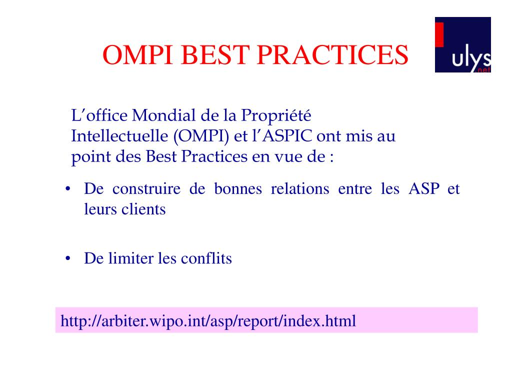 OMPI BEST PRACTICES