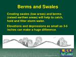 berms and swales