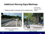 additional warning signs markings