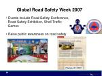 global road safety week 200729