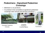 pedestrians signalised pedestrian crossings