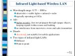 infrared light based wireless lan