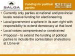 funding for political parties