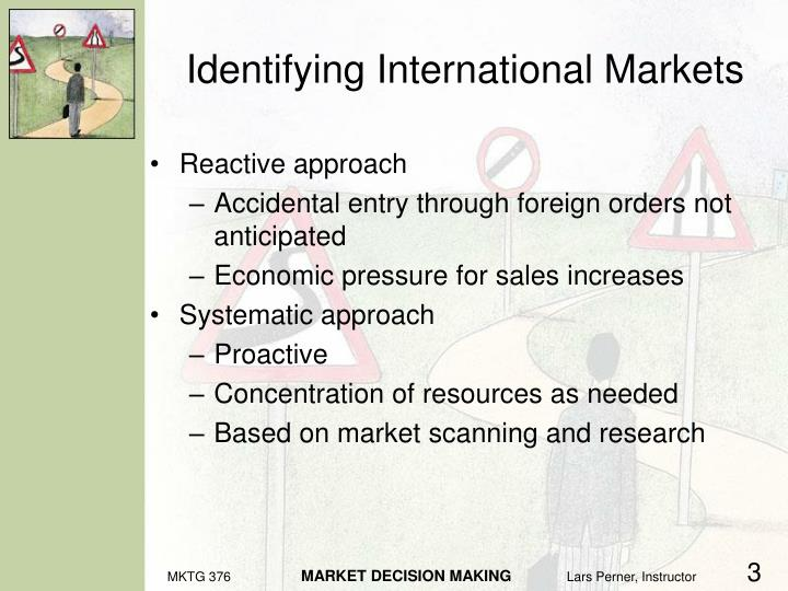 Identifying international markets