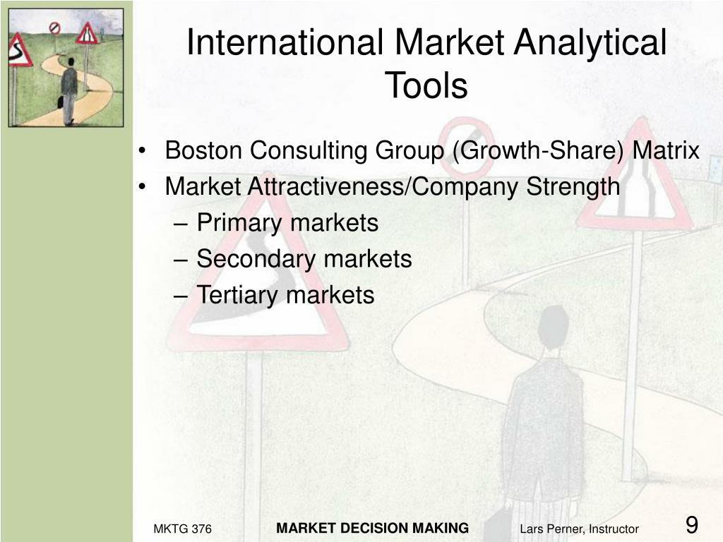 International Market Analytical Tools