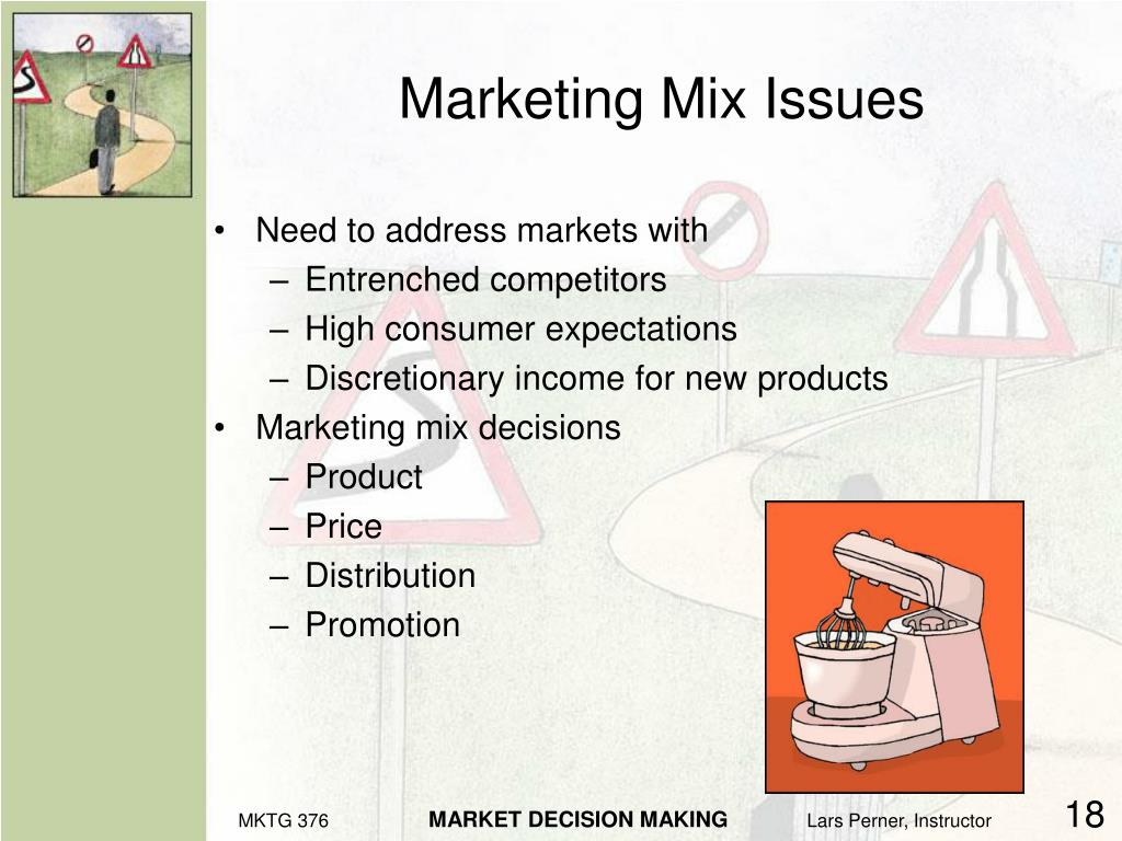 Marketing Mix Issues