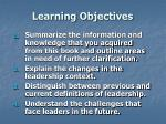 learning objectives57