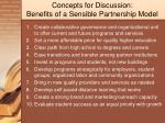 concepts for discussion benefits of a sensible partnership model
